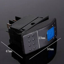 Blue 12V 20A Car LED Light ON-OFF Rocker SPST Switch Waterproof Auto Boat