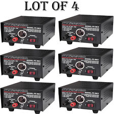 (LOT OF 6) - NEW Pyramid PS9KX 5 Amp Power Supply w/Cigarette Lighter Plug