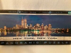 New York, New York Panoramic Puzzle New/Sealed Twin Towers Twilight View