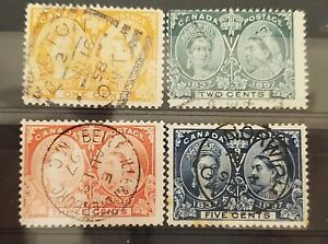 Selection of Canada Jubilees nice cancels