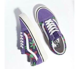 Vans Purple Floral 90s Retro Anaheim Factory Old Skool 36 DX NEW Size 9 10.5