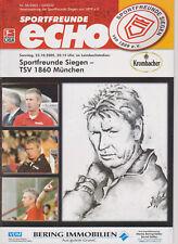 Programm  Sportfreunde Siegen - TSV 1860 München   2. Bundesliga  Saison 2005/06