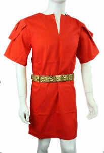Medieval Red Color Half Sleeves Renaissance Tunic
