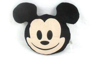 Disney Mickey Mouse Mouse Emoji Pillow Black Round Animation Beige