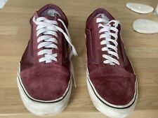 Tenis Vans De Lona Para Hombre De Ante Zapatillas Borgoña Ward Size UK 12