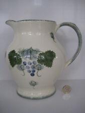 Peint à la main Poole Pottery vigne raisin & Vine énorme PICHET CARAFE spongeware