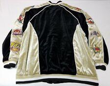 Veezo Wear NBA Basketball Polyester Jacket Sz XL Black Gold Suede Jordan Lakers