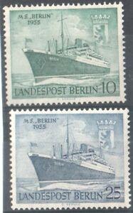 1955 WEST BERLIN GERMANY - S.G:B 123/4 - M.S.BERLIN - UNMOUNTED MINT
