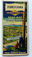 SUNOCO PENNSYLVANIA ROAD MAP AND HISTORICAL SCENIC GUIDE