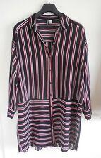 Long Bluse Tunika von H&M Gr 44 auch 42 gestreift Streifen schwarz rot weiß NEU