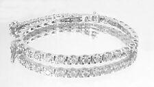 3.25CT ct round cut White gold 14k diamond tennis bracelet CERTIFIED F-VS2