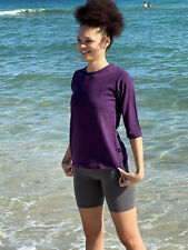 Women's Hemp and Organic Cotton Three-Quarter Sleeve Shirt|Hemp Clothing S-XXL