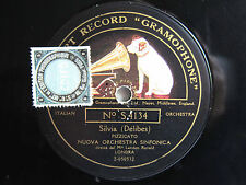 78rpm LANDON RONALD conducts DELIBES SYLVIA - EARLY ACOUSTIC GRAMOPHONE
