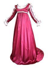 Plus Size Satin Renaissance Dress 4 Piece Layered Masquerade Halloween Costume