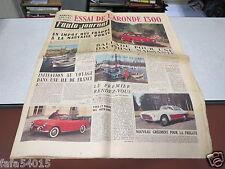 L AUTO JOURNAL N° 147 1er avril 1956 Essai Arounde 1300/ Salon de Genève/ Vesp*