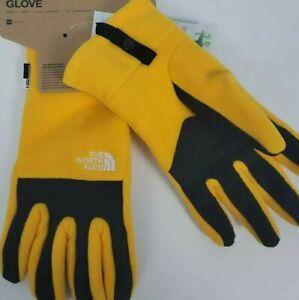 The North Face Mens Denali Etip Gloves XL  Winter Yellow Black Touchscreen