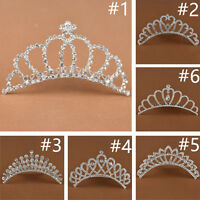 New Bridal Princess Rhinestone Tiara Wedding Hair Comb Crown Prom Party Birthday