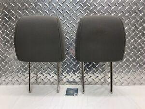12-18 CHEVROLET SONIC FRONT SEAT RH LH HEADREST SET HEAD RESTS GRAY CLOTH OEM
