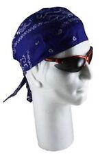 Royal Blue PAISLEY  COTTON Bandana DURAG Skull Cap