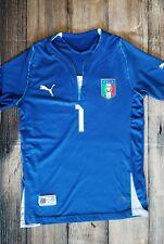 Gianluigi Buffon Italia #1 Puma Italy Jersey Blue Shirt Football Rare sz Small