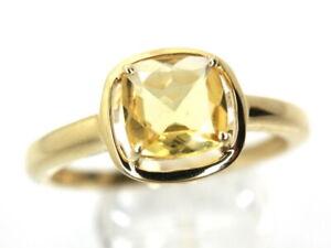 GOLDJUNGE69 * HARRY IVENS EDELSTEIN RING (20) GOLDBERYLL 0,8ct 375er GELBGOLD