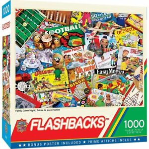 NEW - Master Pieces Family Game Night 1000 Piece Jigsaw Puzzle