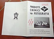 PUBBLICITà 1935 FOTOGRAFIA FOTO AGFA MILANO VINTAGE MACCHINA FOTOGRAFICA LISTINO