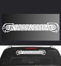 "Turbo Diesel Universal Race Car or Truck Window Decal 6"" X 34"" (Tb1ban)"