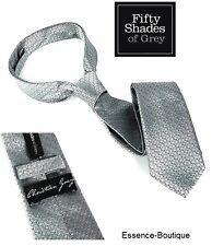 Cinquanta sfumature di grigio Christian Grey SILVER CRAVATTA UFFICIALE-Stesso Giorno Spedizione -
