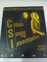 CSI Las Vegas Primera Temporada 1 Completa Caja Grande 6 x DVD Español Ingles
