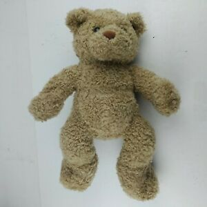 """Build A Bear Curly Brown Bear with Paw Prints 14"""""""