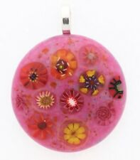Glass Pendant With Millefiori.   Wear a Paperweight!