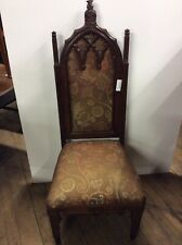 Gothic Side Chair Black Walnut 45.5� Height