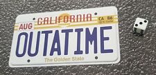 Back To The Future Outatime sticker car licence plate decal 150 x 80mm approx