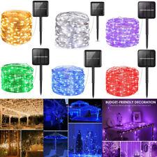 200 LED солнечной энергии гирлянды струнные светильники вечеринка свадьба декор сада на открытом воздухе