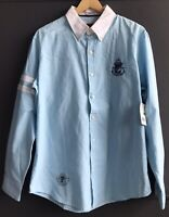 New with Tags! US Polo 125th Anniversary Slim Fit Men's Blue Shirt Size Large