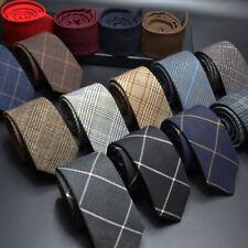 Men Ties Skinny Neck Ties for Men Striped Narrow Collar Slim Cashmere Tie