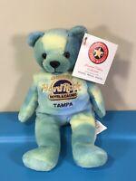 Hard Rock Cafe Tampa Seminole Tie Dye Herrington Beanie Bear HTB 2005 Limited Ed