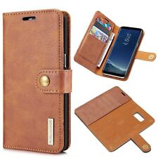Shockproof Real Leather Case For Samsung Galaxy S8 Supports Qi Wireless Charge