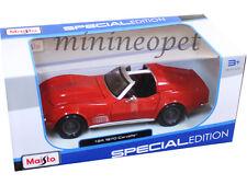 MAISTO 31202 1970 CHEVY CORVETTE COUPE 1/24 DIECAST MODEL CAR RED