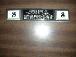EZZARD CHARLES (BOXING) NAMEPLATE FOR SIGNED GLOVES/TRUNKS/PHOTO DISPLAY