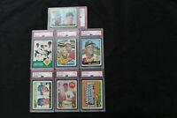 Lotof7 1960s,Baseball PSA Graded Topps Cards1x63,5x65,1x69,ROOKIES,ROBINSON,PLUS