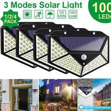 4X100LED Solar Power PIR Motion Sensor Wall Lights Outdoor Garden Security Lamp