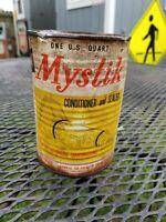 Mystik conditioner sealant motor oil can vintage antique