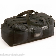 "34"" Heavy Duty Black Canvas Tactical Duffle Tote Backpack Bag for Survival Kits"