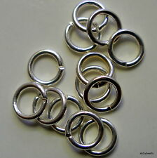 Jumprings silver plated 5mm round square cut 1st class