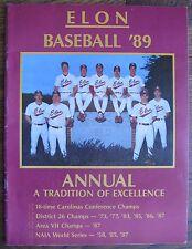 Elon Baseball 1989 Program