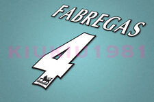 Arsenal Fabregas #4 PREMIER LEAGUE 97-06 White Name/Number Set