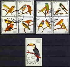 ISO 1977 BIRDS SET OF 8 PLUS 1 SOUVENIR SHEET COMPLETE!