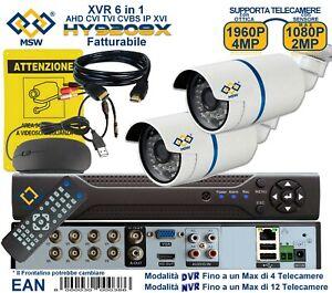 DVR 8 Canali XVR 6 IN 1 UTC P2P e NVR 16 Canali + 2 Telecamere Bullet 4 MP 1080P
